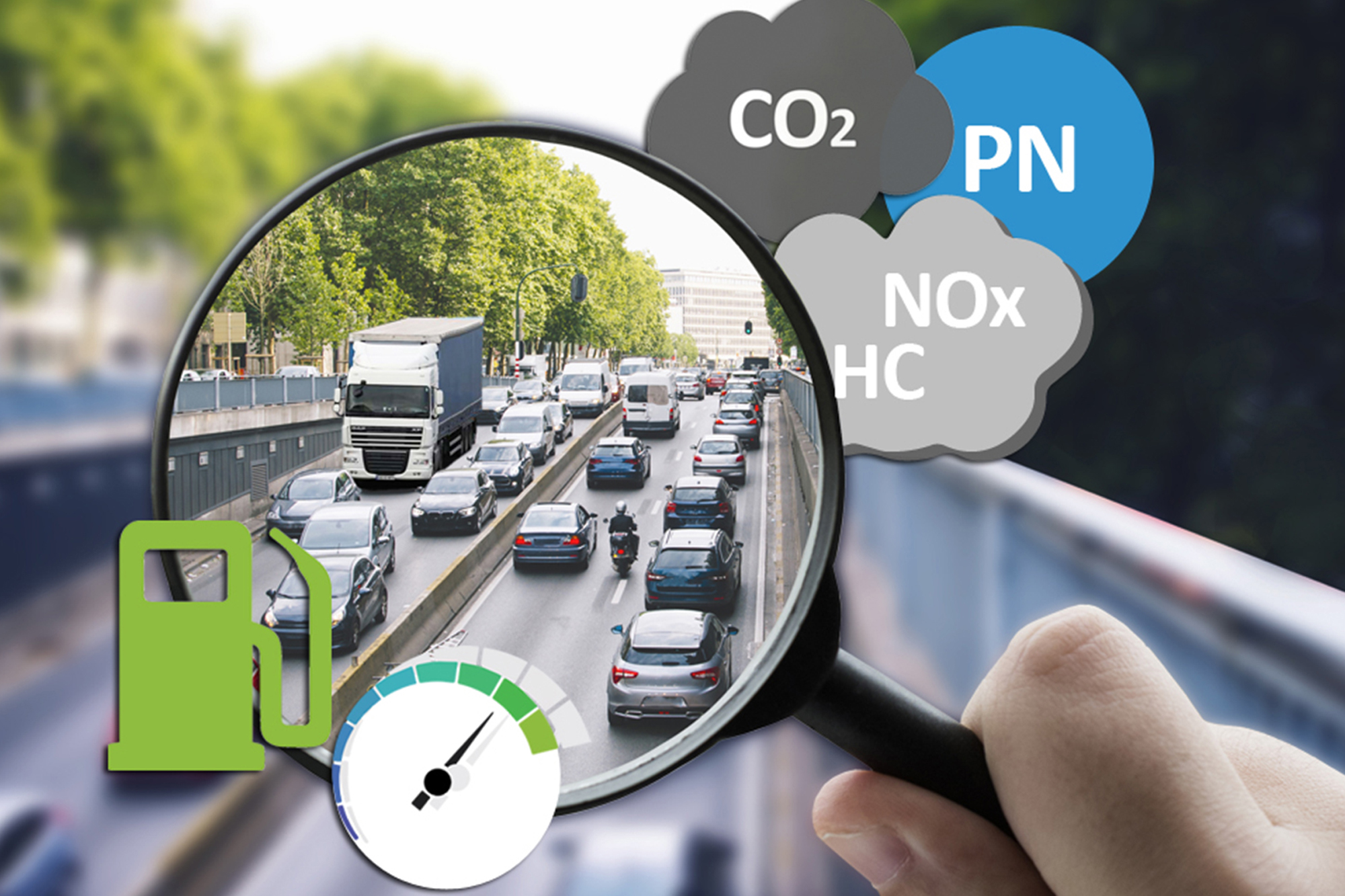 Pollutant emissions measurement on running vehicles