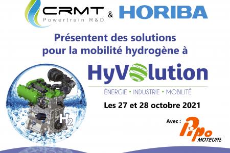 CRMT co-exposera au salon HyVolution aux côtés d'HORIBA France