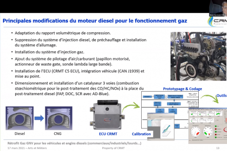 Retrofitting of diesel engines: Olivier Marchand, CRMT's CTO presentation in a successful webinar.